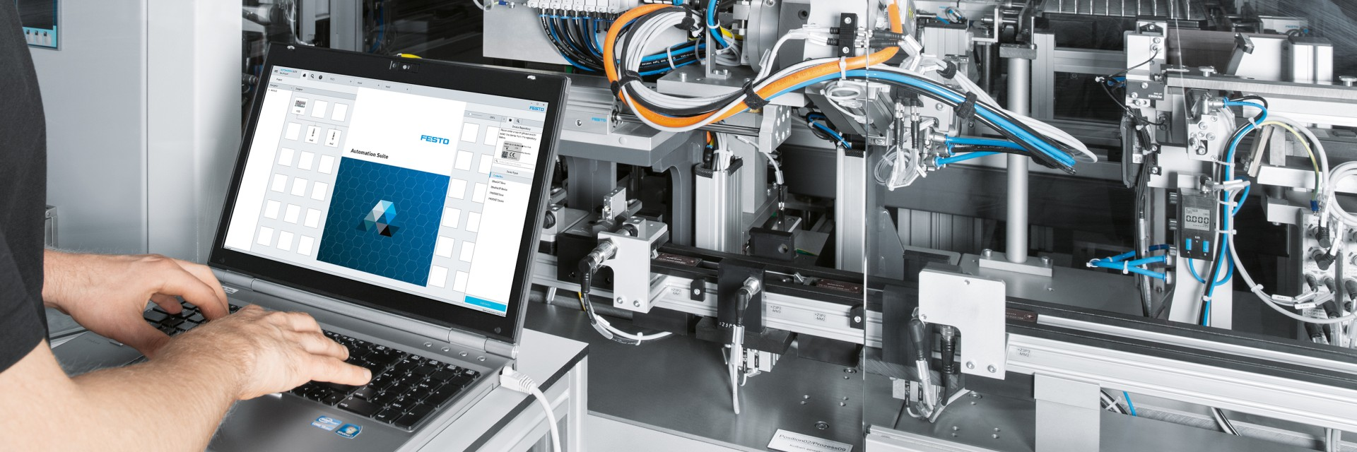 Comissionamento do sistema: Festo Automation Suite
