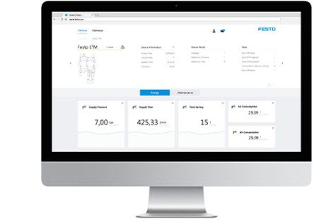 Cloud Services: Festo Dashboards Screen
