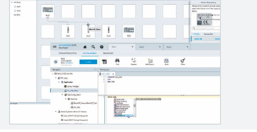 Save time: Integrate your drive system with just two clicks!
